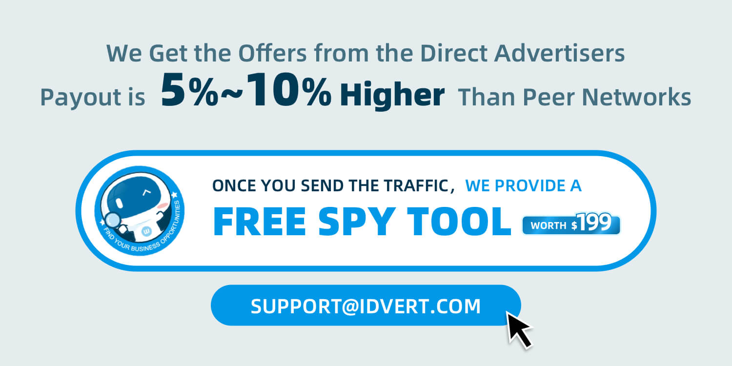 once you send the traffic,we provide a free spy tool(worth¥199)